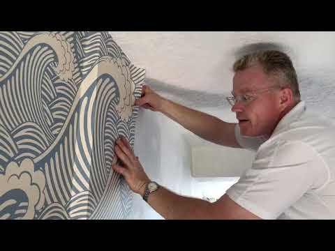 Peel and Stick Removable Wallpaper Installation (Part 1) - Spencer Colgan