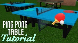 PING PONG TABLE TUTORIAL || CUSTOM FURNITURE || BLOXBURG