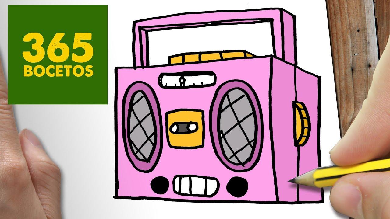 Como Dibujar Radio Cassette Kawaii Paso A Paso Dibujos Kawaii