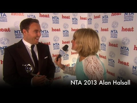 Backstage at the 2013 NTAs with Alan Halsall