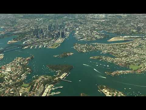 American Airlines B787-9 Sydney Takeoff - Awesome City Views!!!