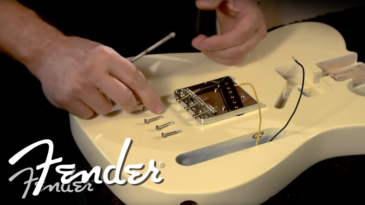 Schema Cablaggio Fender Telecaster : How to install a telecaster bridge fender youtube