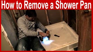 How to Remove a Shower Pan
