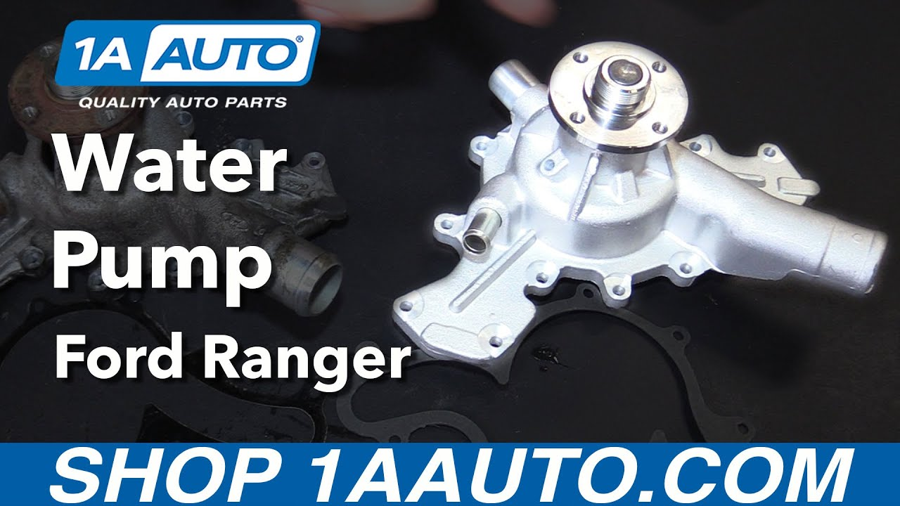 how to replace water pump 01-11 ford ranger v6 4 0l