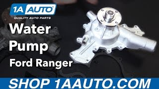 How to Replace Water Pump 01-11 Ford Ranger V6 4.0L