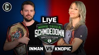 INNERGEEKDOM TITLE MATCH! Jason Inman VS Mara Knopic - Movie Trivia Schmoedown LIVE