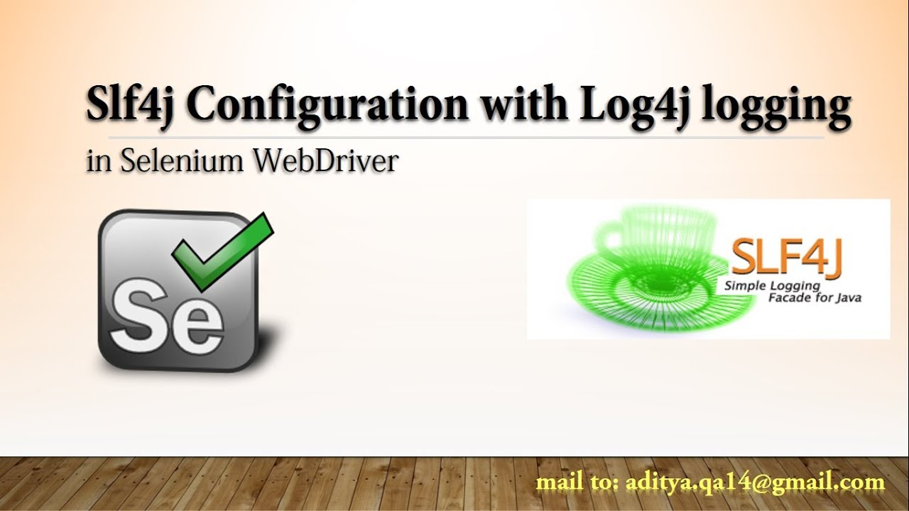 Slf4j Tutorial in Java | Logging framework using Slf4j-Log4j Binding in  Selenium