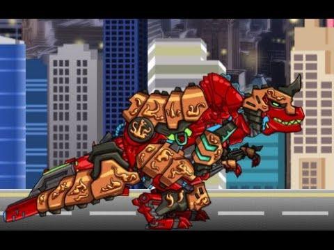 Tyranno Red Delux (Роботы динозавры: собирать красного Тираннозавра) - прохождение игры