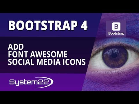 Bootstrap 4 Basics Add Font Awesome Social Media Icons