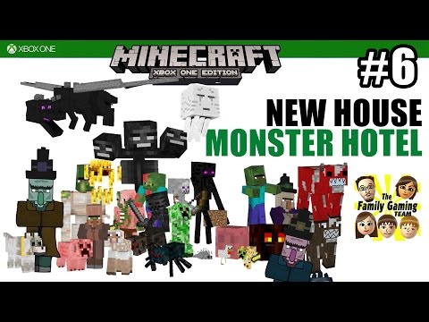 Dad & Son play MINECRAFT XBOX ONE: A Monster Hotel under our New House!!  Doomed Mineshaft!! (#6)