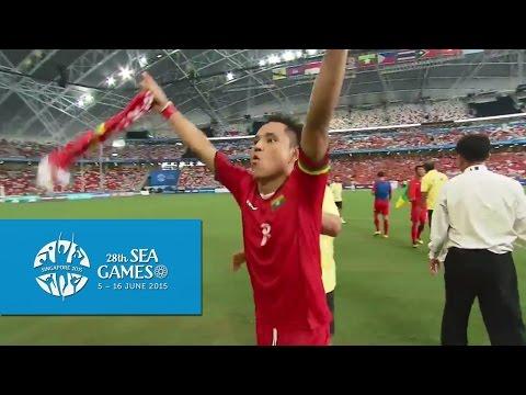 Football Semi-Final 1 Myanmar vs Vietnam Full Match Highlights | 28th SEA Games Singapore 2015