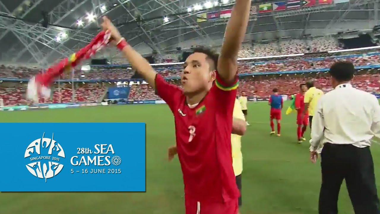 Football Semi Final  Myanmar Vs Vietnam Full Match Highlights Th Sea Games Singapore  Youtube