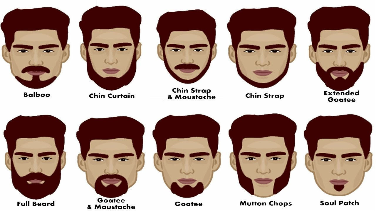 different styles of facial hair with pictures how to choose best beard style based on shape how 4336 | maxresdefault