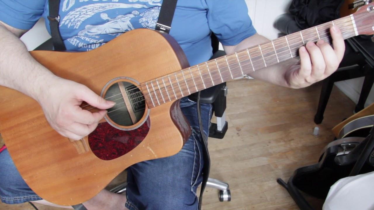 Langebro - Lær at spille Kim Larsens fingerspil var. 2 - øvede guitarister