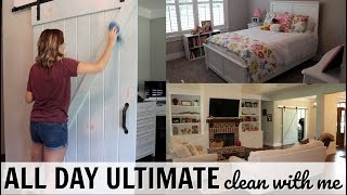ALL DAY ULTIMATE CLEAN WITH ME // EXTREME CLEANING MOTIVATION // WHOLE HOUSE CLEANING