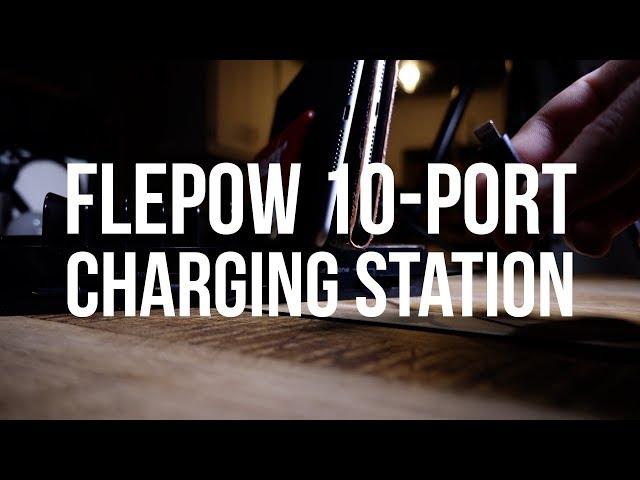 FlePow 10-Port USB Charging Station