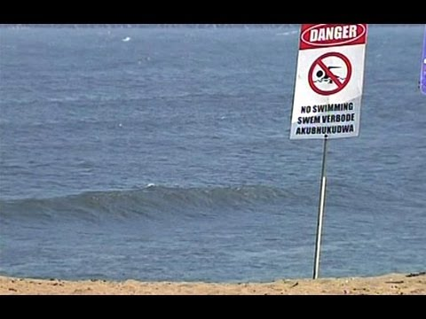 Beach closed because of Richards Bay wreck