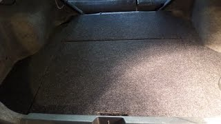 2001 Honda Civic custom trunk with hidden audio system