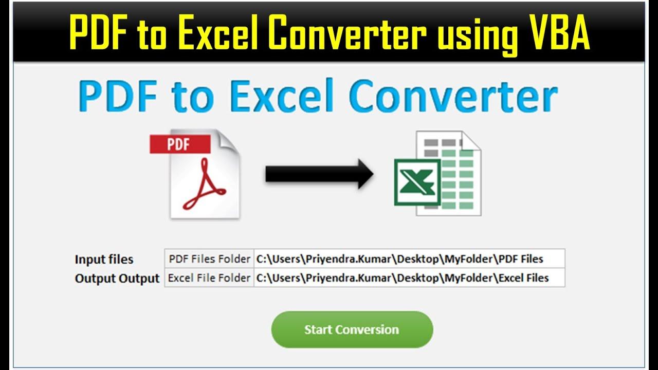PDF to Excel Converter in Excel VBA