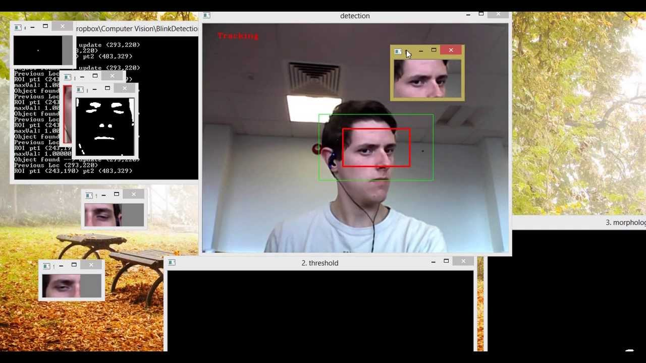 Face detection and tracking using opencv