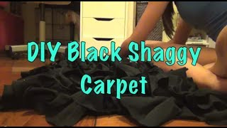 DIY: Black Shaggy Carpet (NO SEWING!) Thumbnail