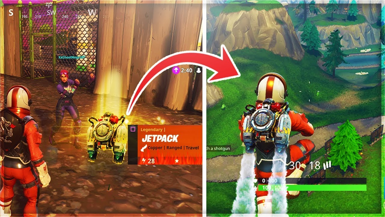 how to use legendary jetpack fortnite insane jetpack gameplay fortnite battle royale jetpack - when is the jetpack coming to fortnite