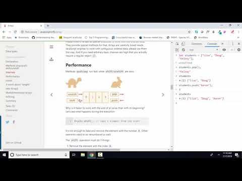 javascript.info The Modern JavaScript Tutorial 5.4 Arrays thumbnail