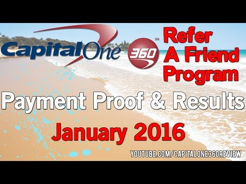 Capital One 360 Refer A Friend Program Payment Proof January 2016 - Capital One 360 Reviews