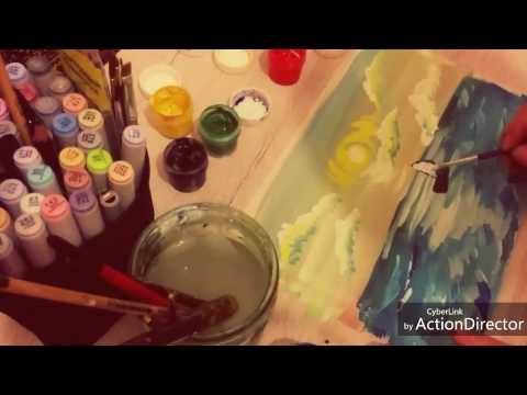 Урок рисования для детей 7-8 лет.