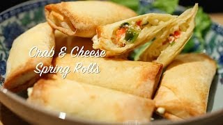 How to make Crab & Cheese Spring Rolls (Airfryer Recipe)