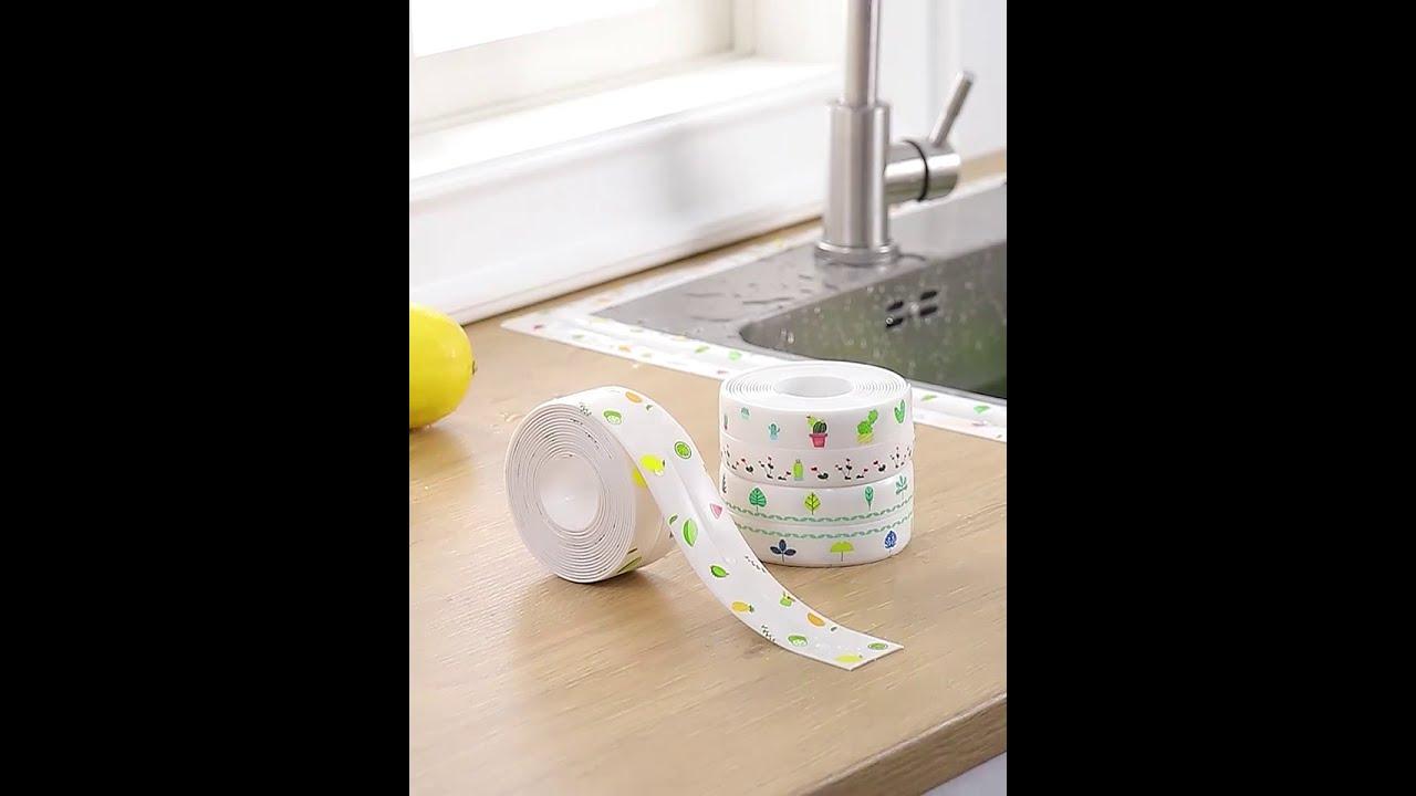 Kitchen Sink Waterproof Sticker Anti Mold Waterproof Tape Youtube