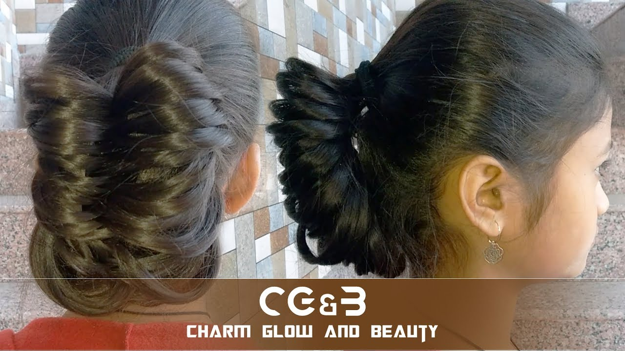 Making Simple Hairstyle Girls At Home For Party New Hair Style