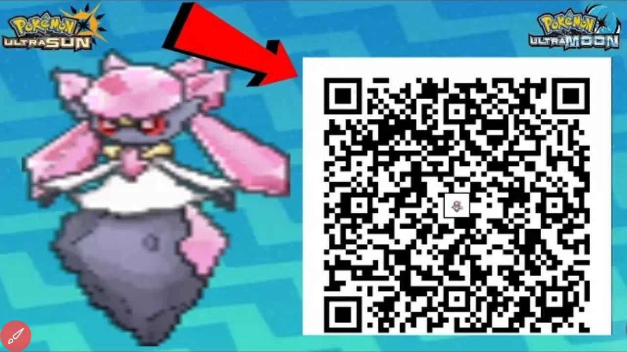 Diance QR code for Pokémon Ultra Sun and Ultra Moon!!!