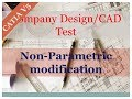 Non-Parametric Modification| Company's CAD Test-1| Automotive Product Design Training | ISOPARA