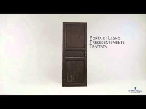 Come verniciare una porta di legno - YouTube