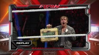 WWE Dean Ambrose destroys Rollins MITB Contract and Briefcase(FULL PART)