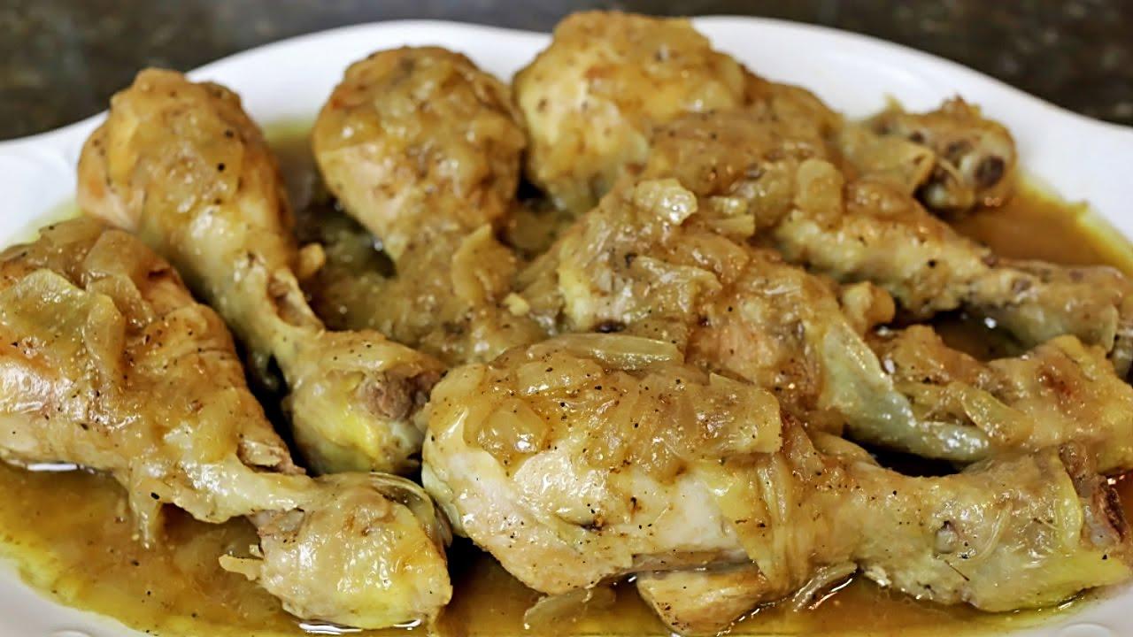 Muslos de pollo encebollados youtube for Despresadora de pollo