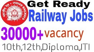 Railway Big Vacancy 30000+ Release Get ready 2017 Video
