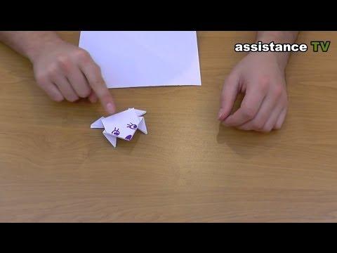Как сделать лягушку из бумаги видео
