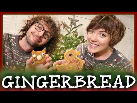 gingerbread making ~ stampy & sqaishey
