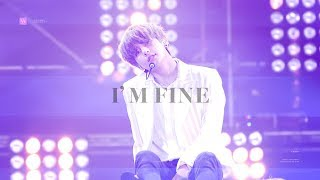 181106 방탄소년단 뷔 아임파인 직캠|BTS I'm Fine V focus (4K)