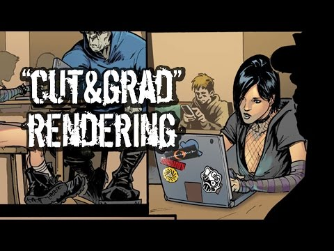 How To Color Comic Books! Photoshop comic book coloring tutorial: Cut & Grad Technique Explained