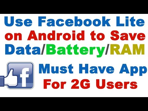 Use Facebook Lite on Android to Save Data Usage/Battery/Memory - Must Have App For 2G Users