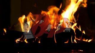 Видеофон - Пламя камина (горит огонь, фон для телевизоров и мониторов)