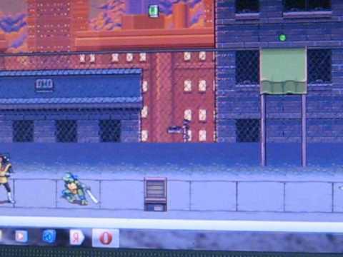 Прохождение игры черепашки ниндзя  : Двойной удар. 3 уровень.