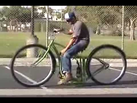36 Inch Custom Cruiser Bike Air Suspension Bicycle Youtube
