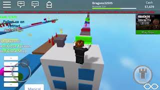 Trying to make it through my own obby (ROBLOX)