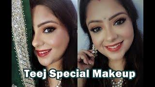 Teej Special Makeup Look | Saavan Makeup | Indian Festive Makeup by PBZ