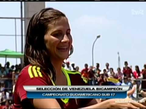 VENEZUELA CAMPEONA DE SUDAMERICANO FEMENINO SUB17