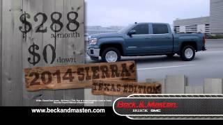2014 GMC Sierra Rodeo Specials at Beck & Masten Buick GMC